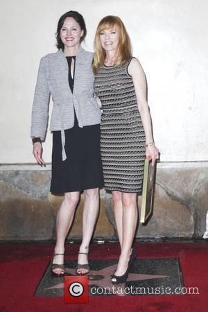 Jorja Fox, Marg Helgenberger  Marg Helgenberger receives a star on the Hollywood Walk of Fame  Los Angeles, California...