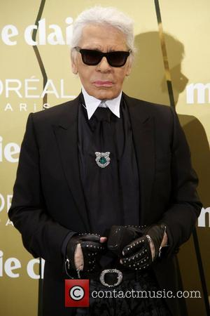 Karl Lagerfeld,  at the Marie Claire Prix de la Moda awards 2012 held at the French Embassy. Madrid, Spain...