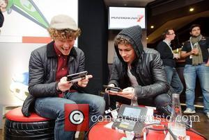 Robert Sheehan  The launch of Mario Kart 7 held at the Sports Cafe, Haymarket London, England - 30.11.11...