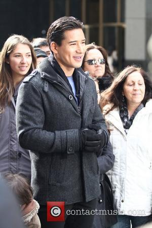 Mario Lopez and Times Square