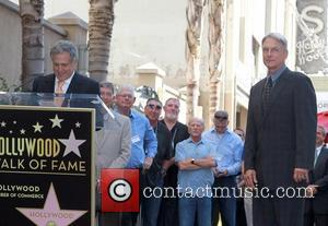 Mark Harmon, Leslie Moonves and Star On The Hollywood Walk Of Fame