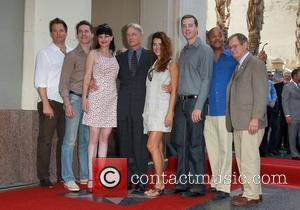 Michael Weatherly, Brian Dietzen, Pauley Perrette, Mark Harmon, Cote, Pablo, Sean Murray, Rocky Caroll, David Mccallum and Star On The Hollywood Walk Of Fame