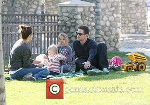 Mark Wahlberg and his wife Rhea Durham enjoy a family day at the park in Beverly Hills. Los Angeles, California...