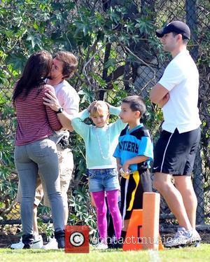 Rhea Durham, Mark Wahlberg and Ella Wahlberg