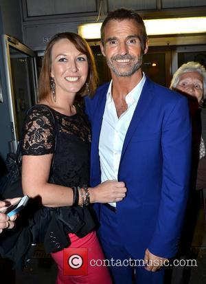 Marti Pellow with fan Audrey Moloney at the stage door of the National Concert Hall after the Wet Wet Wet...