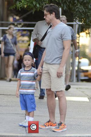 Matt Bomer  seen out and about with one of his children  New York City, USA - 13.08.12