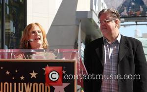 Nancy Cartwright, Matt Groening and Star On The Hollywood Walk Of Fame