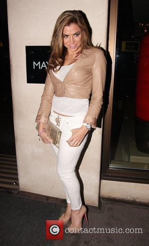 Louise Glover  leaving the Mayfair Hotel London, England - 18.01.12