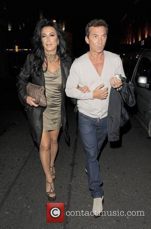 Nancy Dell'Olio and Bruno Tonioli out and about in Mayfair together. London, England - 31.07.12