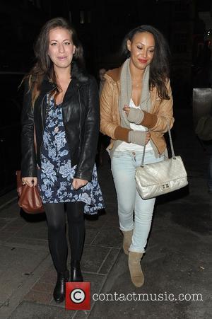 Amelle Berrabah leaving May Fair hotel London, England - 15.11.12