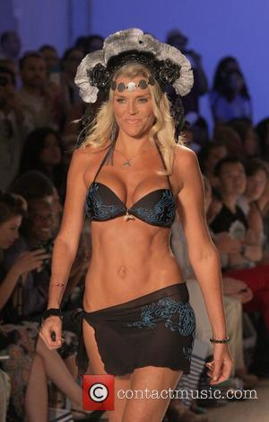 Lisa Burke Mercedes Benz Fashion Week - Swim at the Raleigh Hotel for Lisa Blue - Runway Miami, Florida -...
