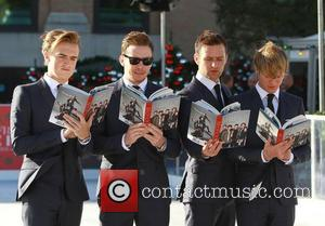 Tom Fletcher, Danny Jones, Harry Judd and Dougie Poynter McFly   sign copies of their new book 'Unsaid Things...Our...