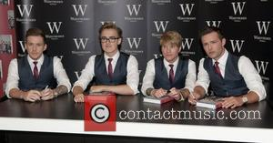 Danny Jones, Tom Fletcher, Dougie Poynter and Harry Judd of McFly launch their new book entitled 'Unsaid Things...Our Story' at...