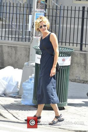 Meg Ryan is seen hailing a cab in Soho, Manhattan New York City, USA - 10.07.12