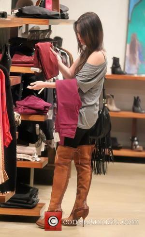 Megan Fox shopping for some Christmas gifts for herself at Madison boutique in West Hollywood Los Angeles, California - 30.11.11