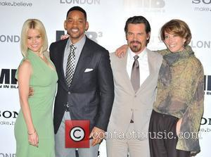 Alice Eve, Will Smith, Josh Brolin, Emma Thompson Man in Black 3 - photocall held at the Dorcester. London, England...