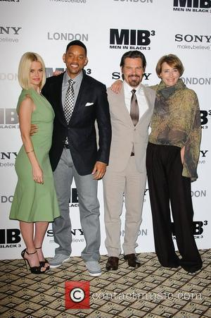 Alice Eve, Will Smith, Josh Brolin and Emma Thompson Man in Black 3 - photocall held at the Dorcester. London,...