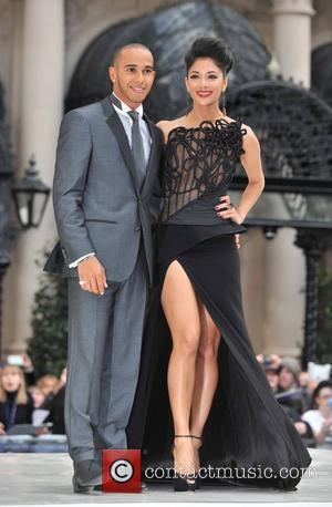 Lewis Hamilton, Nicole Scherzinger and Odeon Leicester Square