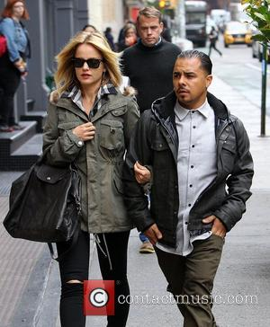 Mena Suvari  seen out and about with her boyfriend Salvador Sanchez. New York City, USA - 24.10.12