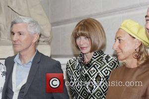 Baz Luhrmann, Anna Wintour and Miuccia Prada  'Schiaparelli and Prada: Impossible Conversations' Costume Institute exhibition press preview at The...