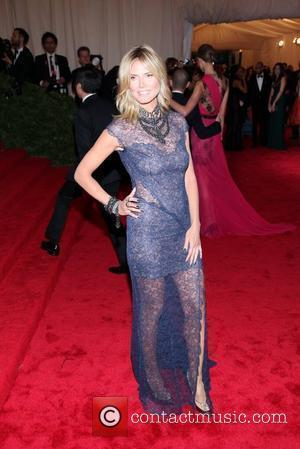 Heidi Klum and Metropolitan Museum Of Art