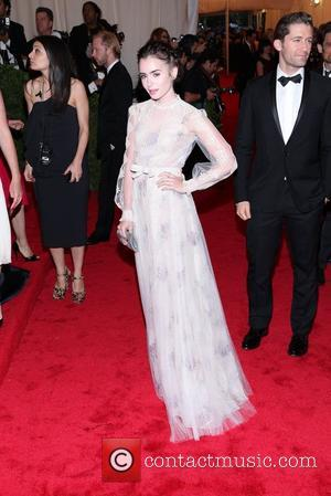 Lily Collins and Metropolitan Museum Of Art