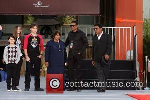 Blanket Jackson, Paris Jackson, Prince Jackson, Tito Jackson, Jackie Jackson, Katherine Jackson at the Michael Jackson family and children immortalise...