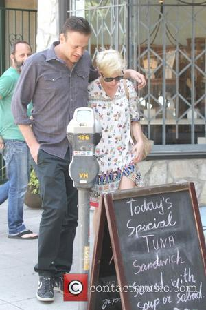 Jason Segel and Michelle Williams are seen leaving Little Dom's in Los Feliz Los Angeles, California - 20.08.12