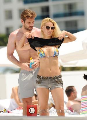 Michelle Hunziker and Tomaso Trussardi on holiday at Miami beach Miami Beach, Florida - 03.06.12