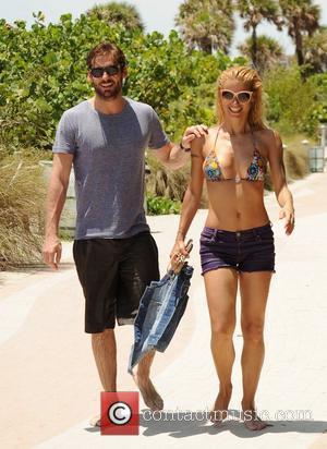 Michelle Hunziker and Tomaso Trussardi on holiday at Miami beach Miami Beach, Florida - 04.06.12