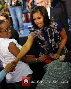 Michelle Obama  Speaks during a grassroots campaign event at Broward College in Davie ,Florida.  Florida, USA - 21.10.12