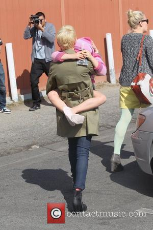 Michelle Williams, her daughter Matilda Ledger, and Busy Philipps leaving lunch at M Cafe in West Hollywood Los Angeles, California...