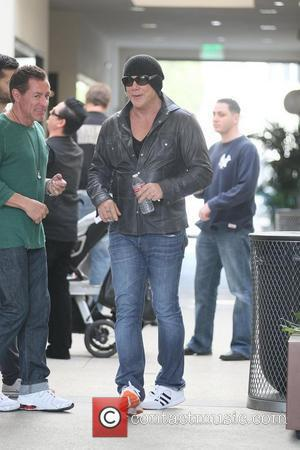 Mickey Rourke  visits Giuseppe Franco at his salon in Beverly Hills  Los Angeles, California - 18.02.12
