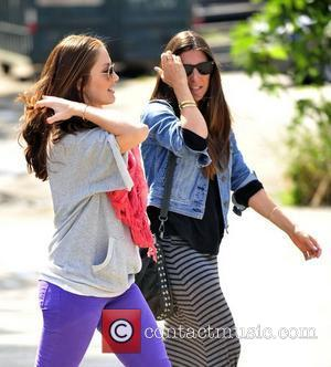 Minka Kelly and a friend head to Starbucks for take out coffee  Los Angeles, California - 22.04.12