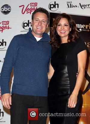 Chris Harrison; Brooke Burke Charvet 2013 Miss America Competition co-hosts and executive producer press conference at Planet Hollywood Resort and...