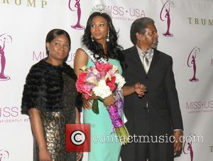 Miss USA Nana Meriwether; parents Miss USA Crowning Ceremony hosted by Donald Trump in New York City  Featuring: Miss...