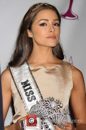 Miss Universe Olivia Culpo Donald Trump crowns New Miss USA at Trump Tower  Featuring: Miss Universe Olivia Culpo Where:...