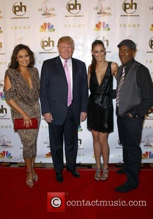 Donald Trump, Arsenio Hall, Dayana Mendoza and Planet Hollywood