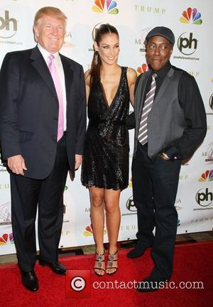 Donald Trump, Dayana Mendoza, Arsenio Hall 2012 Miss USA Pageant at Planet Hollywood Resort and Casino - Red Carpet Las...