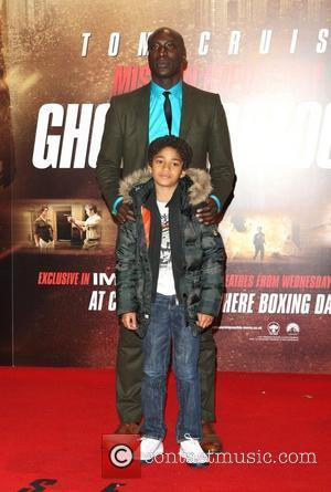 Ozwald Boateng with son Mission: Impossible - Ghost Protocol premiere - Arrivals London, England - 13.12.11