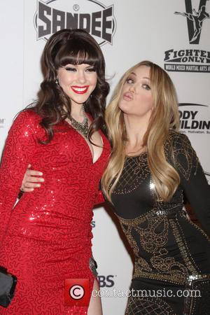 Claire Sinclair and Lacey Schwimmer