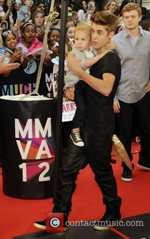 Jaxon Bieber and Justin Bieber  MMVA 2012 (Much Music Video Awards) at the MuchMusic HQ - Arrivals Toronto, Canada...