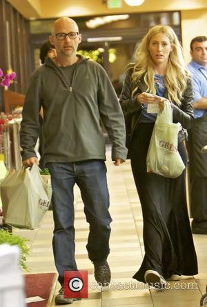Moby and a friend leaving Gelson's Supermarket after doing some shopping Los Angeles, California - 26.08.12
