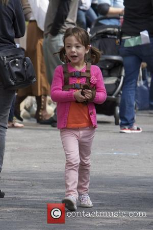 Aubrey Anderson-Emmons The cast of 'Modern Family' filming on location at Disneyland Anaheim, California - 29.02.12