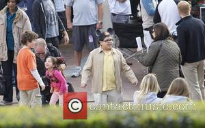 Rico Rodriguez The cast of 'Modern Family' filming on location at Disneyland Anaheim, California - 29.02.12