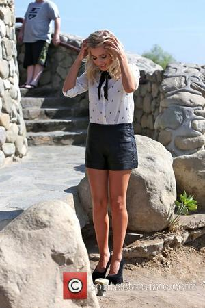 Mollie King of The Saturdays  filming for their reality show at the Hollywood Hills Los Angeles, California - 04.10.12