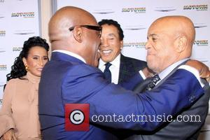Smokey Robinson, L, A. Reid, Berry Gordy Jr. The, Launch, Motown, The Musical, Nederlander Theatre and Arrivals. New York City
