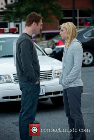 Damian Lewis and Clare Danes  Homeland (Showtime Networks) TV Series   Season 1  Episode 12: Marine One...