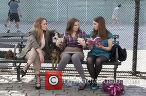 Jemima Kirke, Lena Dunham, Zosia Mamet  Movie stills from Girls (HBO) Season 1, 2012  This is a PR...