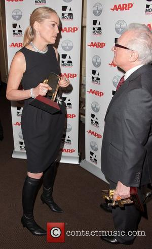 Sharon Stone and Martin Scorsese AARP Magazine's 11th Annual Movies for Grownups Awards Gala at the Beverly Wilshire Four Seasons...